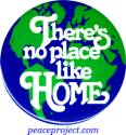 B155 - There's No Place Like Home - Button