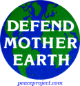 B157 - Defend Mother Earth - Button