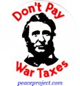 B165 - Don't Pay War Taxes - Button
