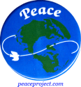 B168 - Peace Above Earth with Dove - Button