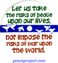 B194 - Let Us Take The Risks Of Peace Upon Our Lives - Button