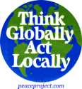 B204 - Think Globally Act Locally - Button