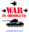B211 - War Is Obsolete - Button