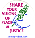 B227 - Share Your Visions Of Peace And Justice - Button