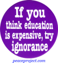 B351 - If You Think Education Is Expensive Try Ignorance - Button
