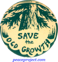 B514 - Save The Old Growth - Button