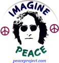 B628 - Imagine Peace - John Lennon - Button