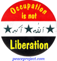 B727 - Occupation Is Not Liberation - Button