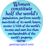 B453 - Women Constitute Half The World's Population... - Button