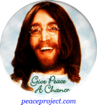 B732 - Give Peace A Chance - John Lennon - Button