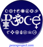 B873 - Peace -  Spelled Out In Symbols - Button