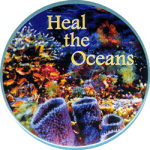 MG997 - Heal The Oceans - Magnet