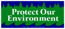 Protect our Environment - Mini-Sticker