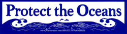 MS165 - Protect Our Oceans - Mini-Sticker