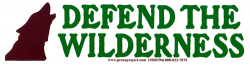 MS194 - Defend the Wilderness - Small Bumper Sticker