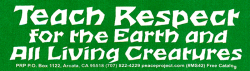 MS42 - Teach Respect For The Earth & All Living Creature - Mini-Sticker