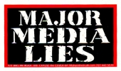 Major Media Lies - Mini-Sticker