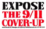 Expose the 9/11 Cover-Up (red, white and blue version) - Mini-Sticker