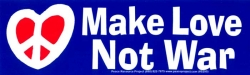 S295 - Make Love Not War - Bumper Sticker