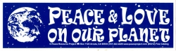 S312 - Peace & Love On Our Planet - Full-Size Sticker