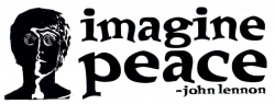 S342 - Imagine Peace - Bumper Sticker