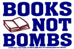S344 - Books Not Bombs - Bumper Sticker