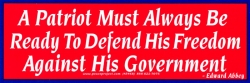 S468 - A Patriot Must Always Be Ready to Defend... - Bumper Sticker