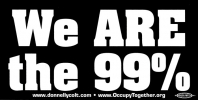 S534 - We Are The 99% - Bumper Sticker