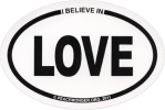 SX39 - Love (oval) - Bumper Sticker