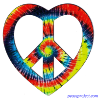 Tie Dye Heart Peace - Vehicle Magnets