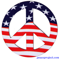 American Flag Peace Sign - Vehicle Magnet