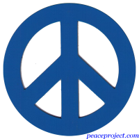 Blue Peace Sign - Vehicle Magnet