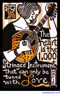 The Heart is the Stringed Instrument - Hafiz - Postcard