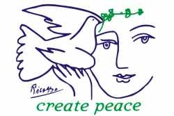 GM03 - Create Peace - Refrigerator Magnet