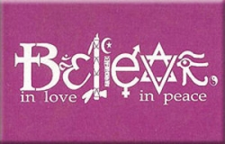 Believe in Love - Believe in Peace - Rectangular Magnet