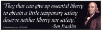 LS12 - They That Can Give Up Essential Liberty... - Digital Sticker