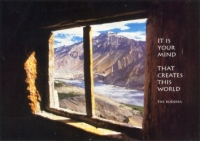 It's Your Mind That Creates This World. -The Buddha - Postcard
