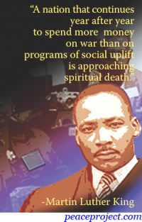 Martin Luther King Jr. Quote on US Budget - Postcard
