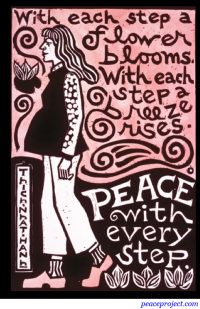 With each step a flower blooms - Hanh - Postcard