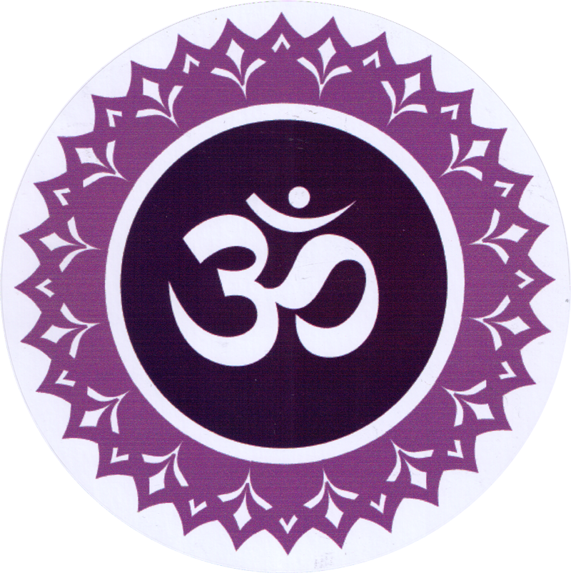 Crown chakra window sticker decal 4 5 circular