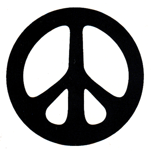 Peace Sign Hand Black Ms73 Black Peace Sign Over