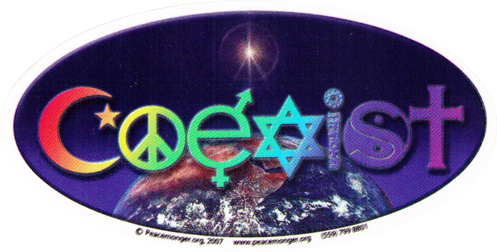 Coexist Window Stickers Peace Resource Project