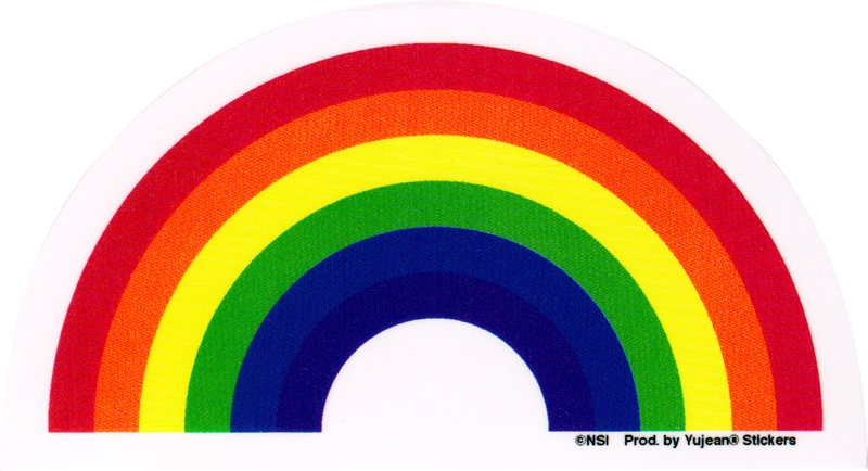 Rainbow window sticker decal 4 5 x 2 75