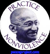 B080 - Practice Nonviolence - Button