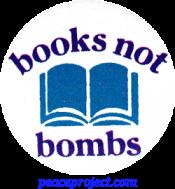 B087 - Books Not Bombs - Button