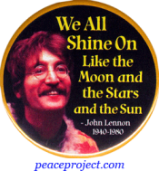 And We All Shine On...- John Lennon - Button