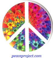 Peace Sign - Fractal Flower - Button