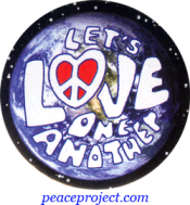 Let's Love One Another - Button