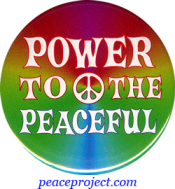 Power To The Peaceful - Button