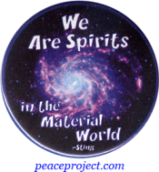 B1090 - We Are Spirits In The Material World - Sting - Button